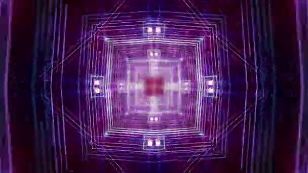 Cool psychedelické pulzující kaleidoskop Tempo abstraktní pozadí smyčky / 30 sekundy opakování pozadí psychedelické diamond vzorů