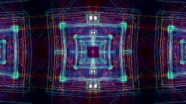 Retro psychedelické pulzující kaleidoskop Tempo abstraktní pozadí smyčky / 30 sekundy opakování pozadí psychedelické diamond vzorů