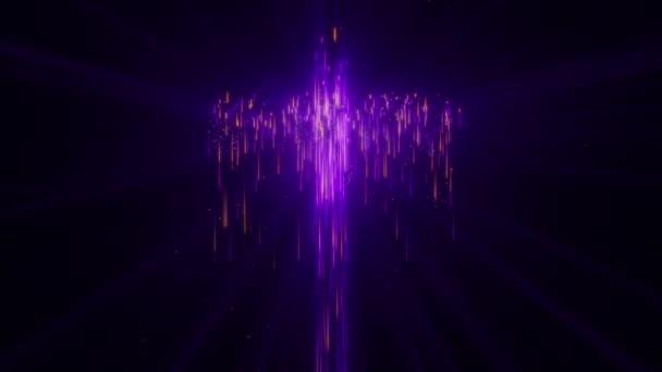 Izolált Falling Royal Purple Light Streak Szent Kereszt hurok háttér