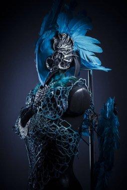 Handmade styling of a bird or mythological figure