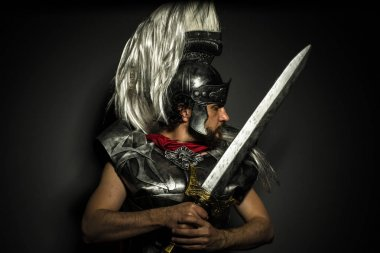 Roman centurion with armor