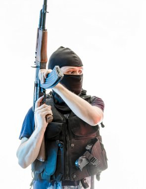 man armed with balaclava