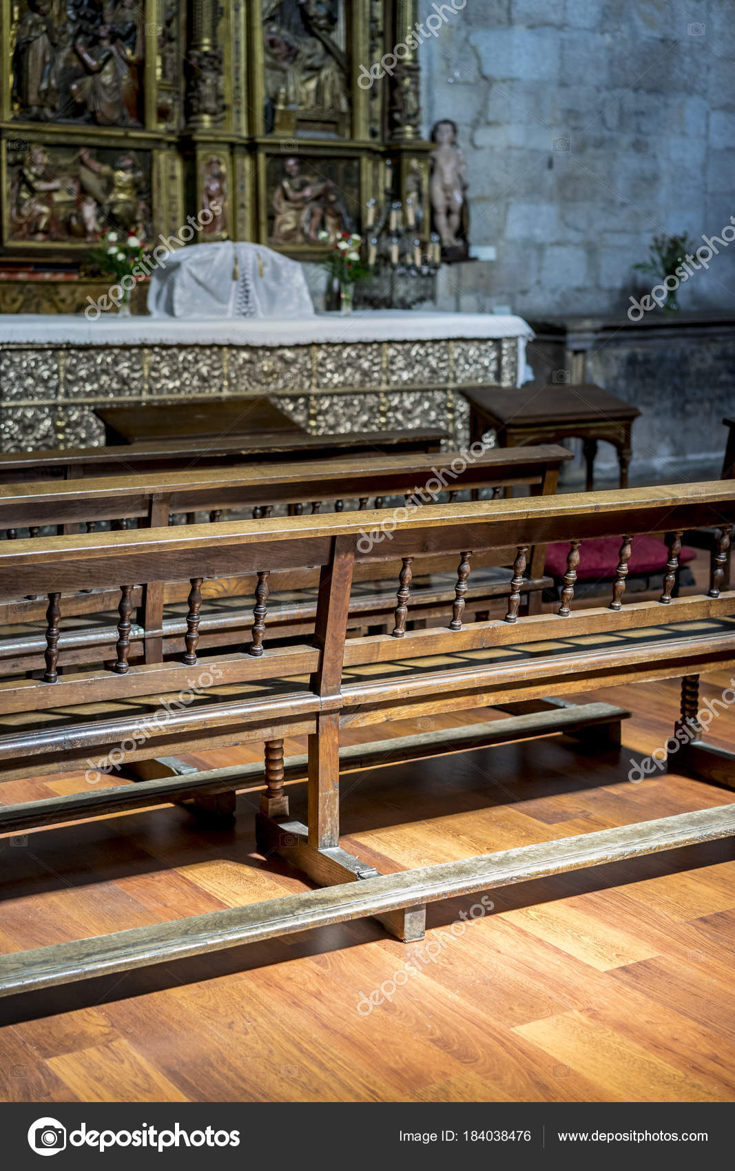 Stupendous Vintage Benches Pray Church Concept Faith Religion Stock Camellatalisay Diy Chair Ideas Camellatalisaycom