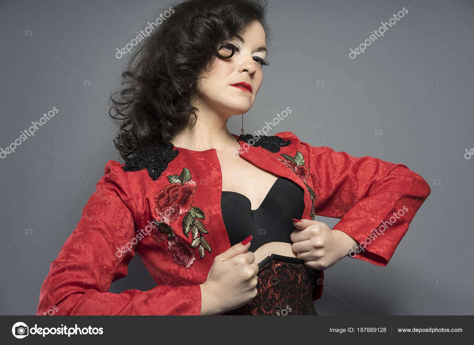 Mujer Bailarín Español Típica Con Chaqueta Española Morena Flamenco aqpZxrzqE
