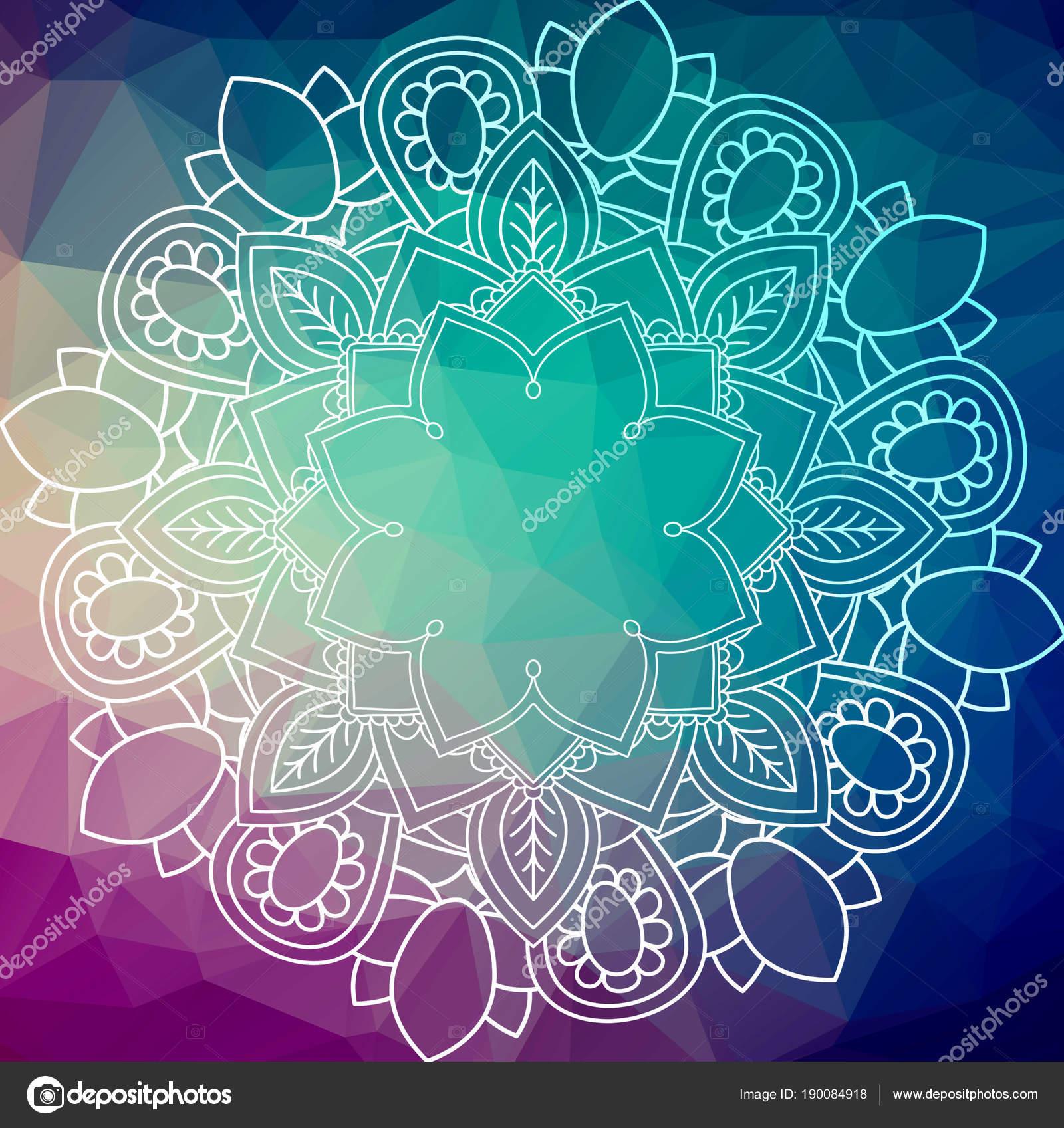 Blume Mandala Vintage Deko Elemente Orientalische Muster Über Low ...