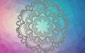 Jóga Mandala. Dekorativní prvky. Orientální vzor, nízké poly pozadí. Stránka barevné knihy