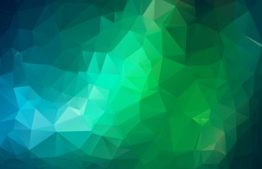 fresh abstract irregular polygon background with a triangle pattern in full multi color - low poly