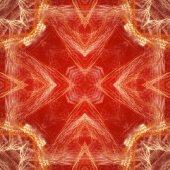 Červený květ ve tvaru fraktální mandaly, digitální kresba pro kreativní grafický design. Barevný svítící abstraktní vzor, fraktální pro pozadí