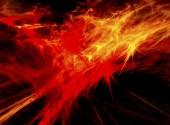Abstraktní geometrické oranžové pozadí pro návrh. pozadí abstraktní oheň s hladké měkké linie