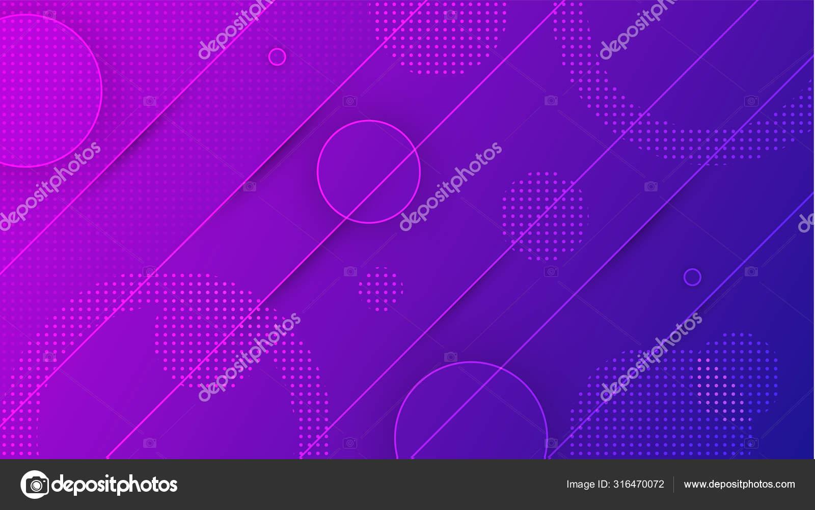 Circles violet gradient background