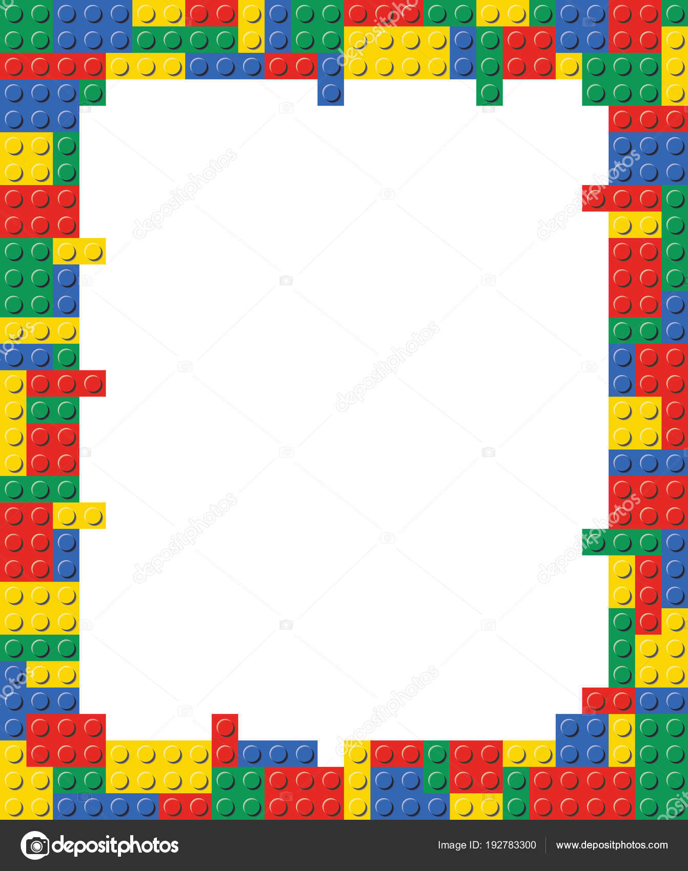 Playing block Frame template background illustration — Stock Vector ...