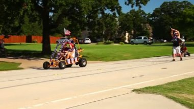 Fourth of July parade in Double Oak Texas.