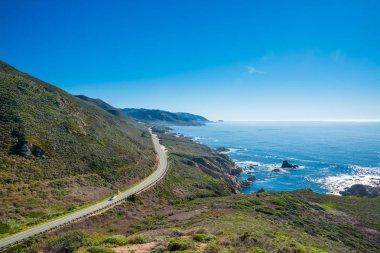 California's coastline along California State Route 1, one of th