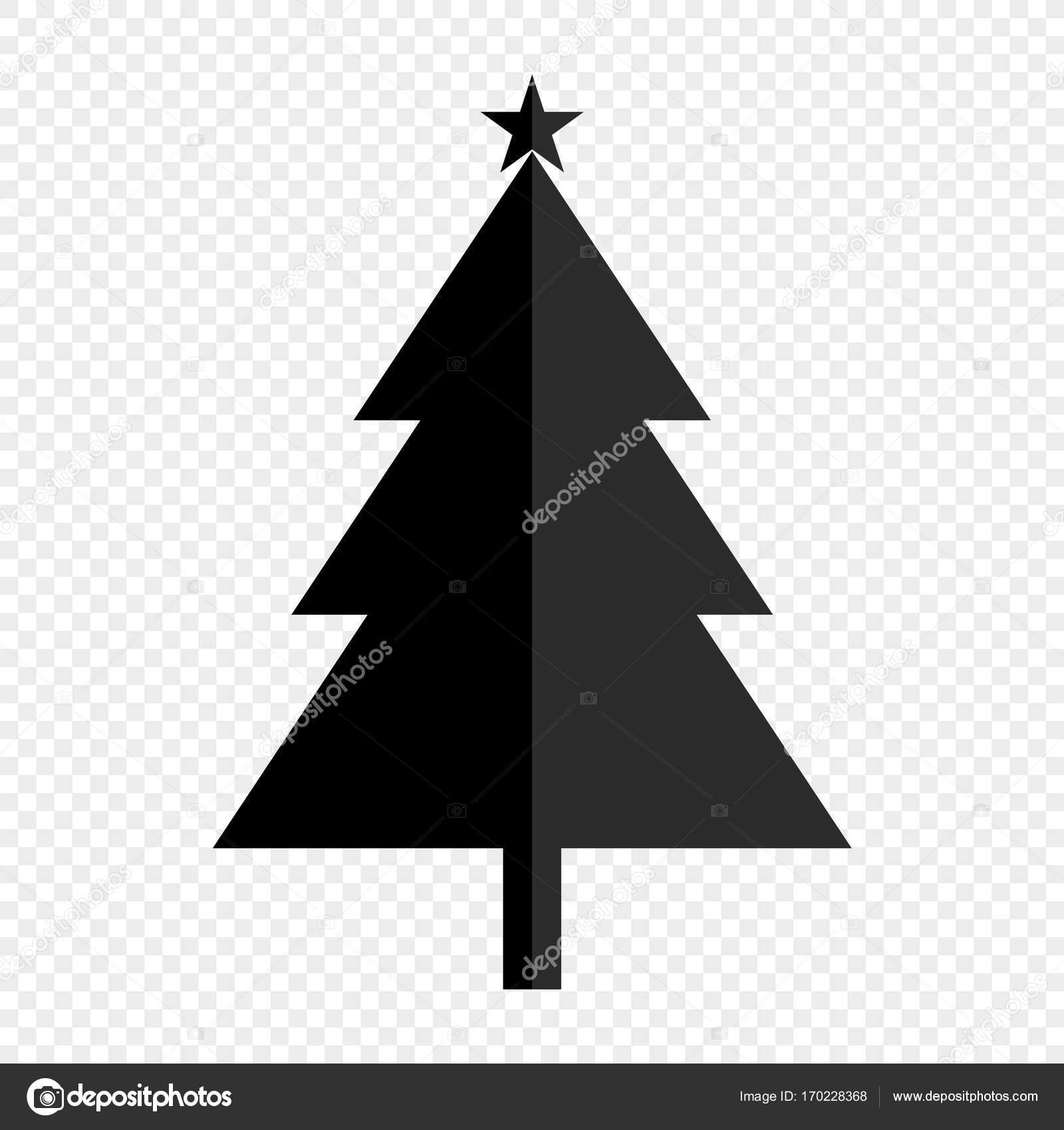 einfache schwarze weihnachtsbaum silhouette stockvektor. Black Bedroom Furniture Sets. Home Design Ideas