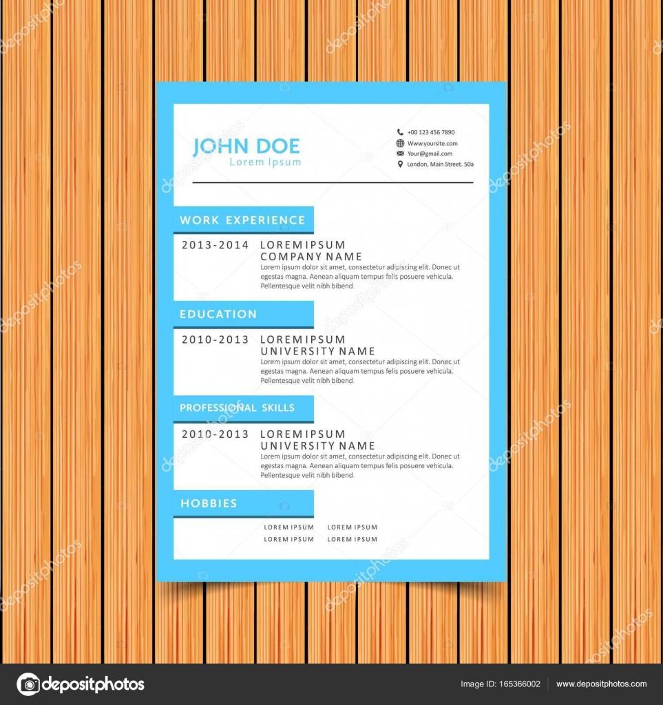 reanudar la plantilla de diseño de la impresión — Archivo Imágenes ...
