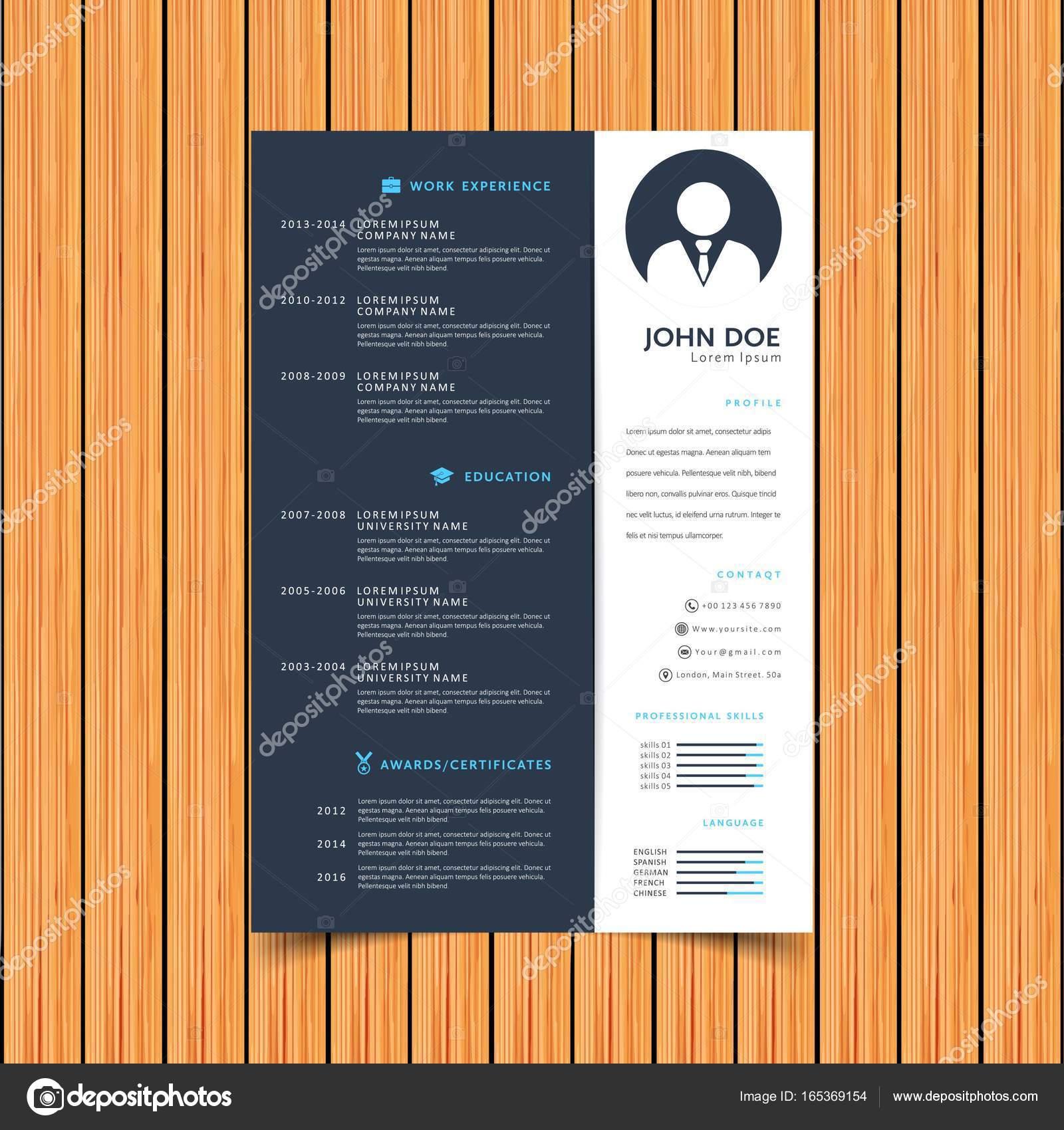 reanudar la plantilla de diseño de la impresión — Vector de stock ...