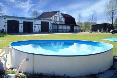 Outdoor plastic pool
