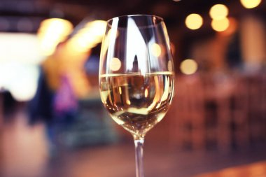 Alcohol Beverage in glass at restaurant