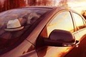 Letní západ slunce na dálnici