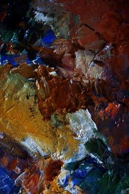 artist oil paints on canvas
