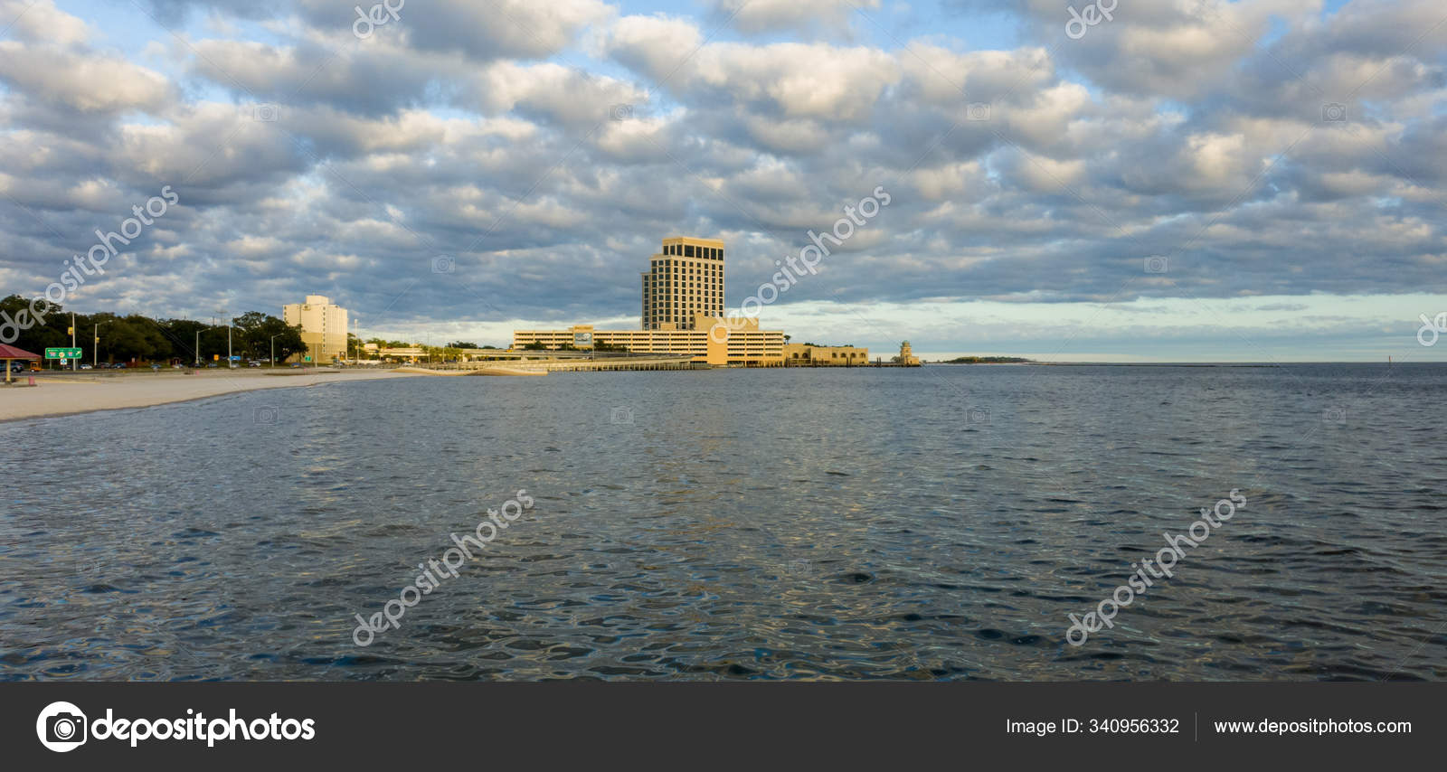 Biloxi Beach Mississippi Gulf Coast February 2020 Stock Photo