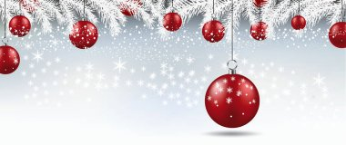 Background with Christmas balls. Vector illustration.