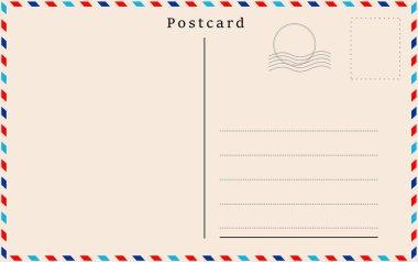 Vector postcard with beige paper texture .
