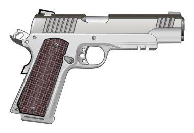1911 pistol isolated on white vector