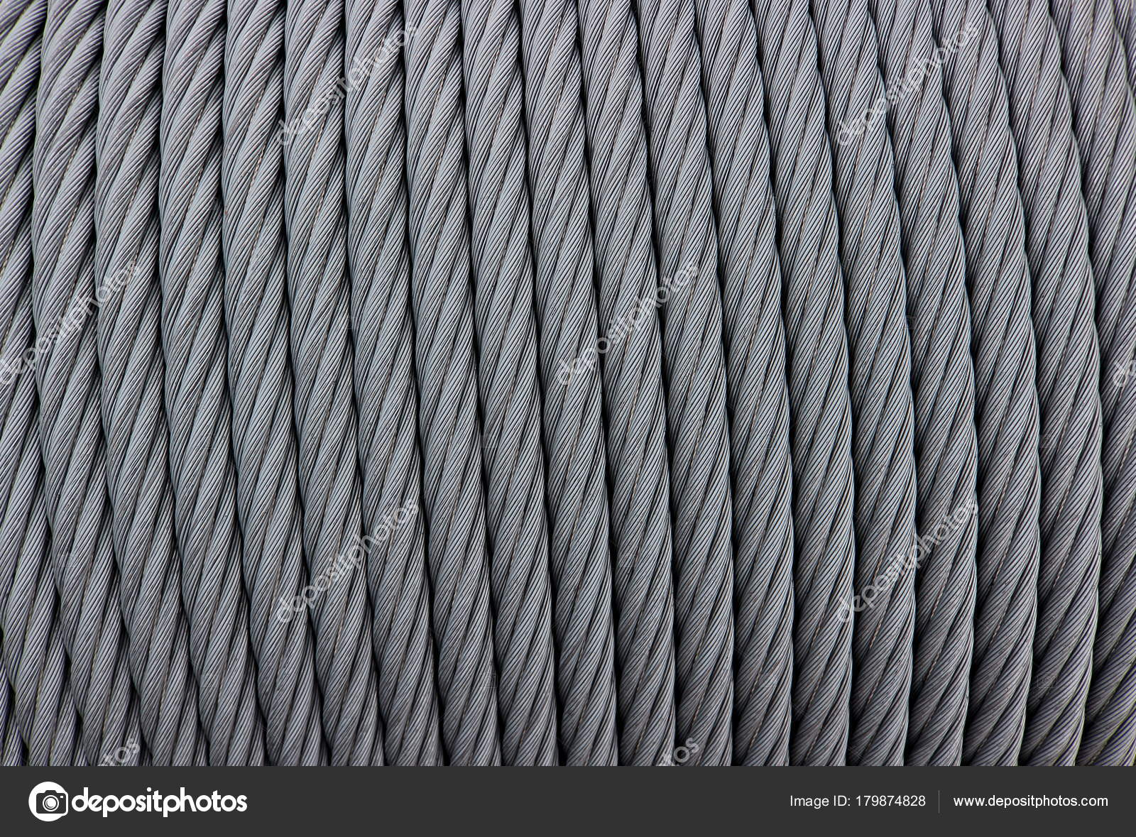 Texture industrial coil steel wire rope — Stock Photo © Al.geba ...