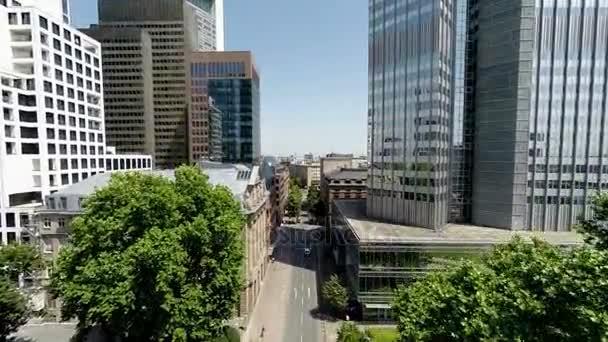 Hubschrauber Blick auf die Skyline der Stadt Wolkenkratzer Stadtbild moderne Gebäude