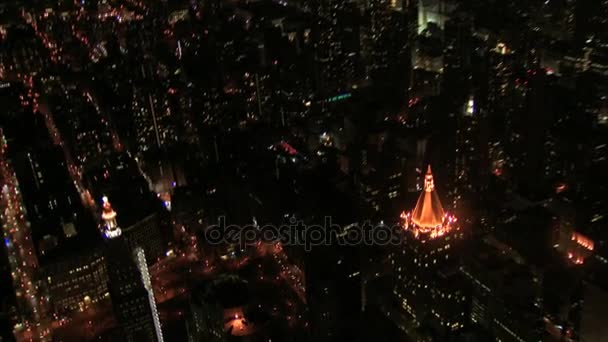 Letecký pohled z new Yorku ulic a budov