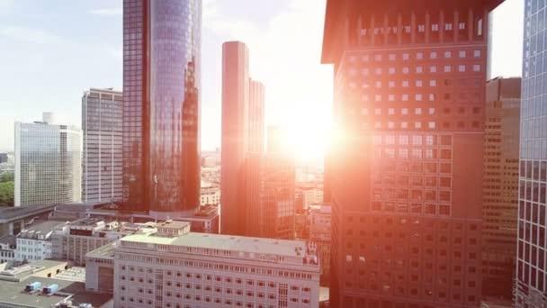 městské panorama Panorama mrakodrapů moderní architektura budov letecký pohled