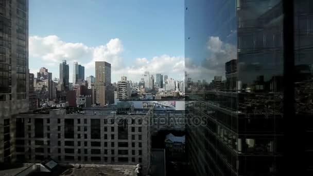 městské panorama mrakodrapů věže panoráma letecké zobrazit nyc new york