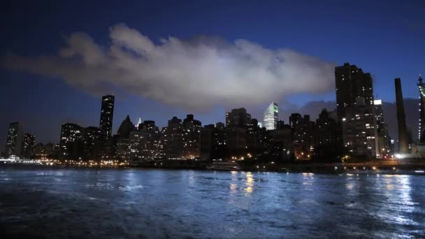 new york time lapse cityscape skyline aerial view