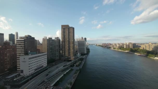 NYC new york city Panorama mrakodrapů east river letecký pohled na panoráma