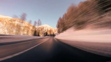 Onboard car view road street driving rush perspective transportation traffic