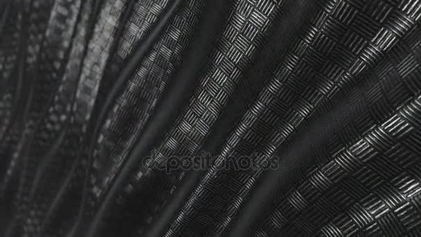 Smyčka kovový vzorek pozadí abstraktní vlna