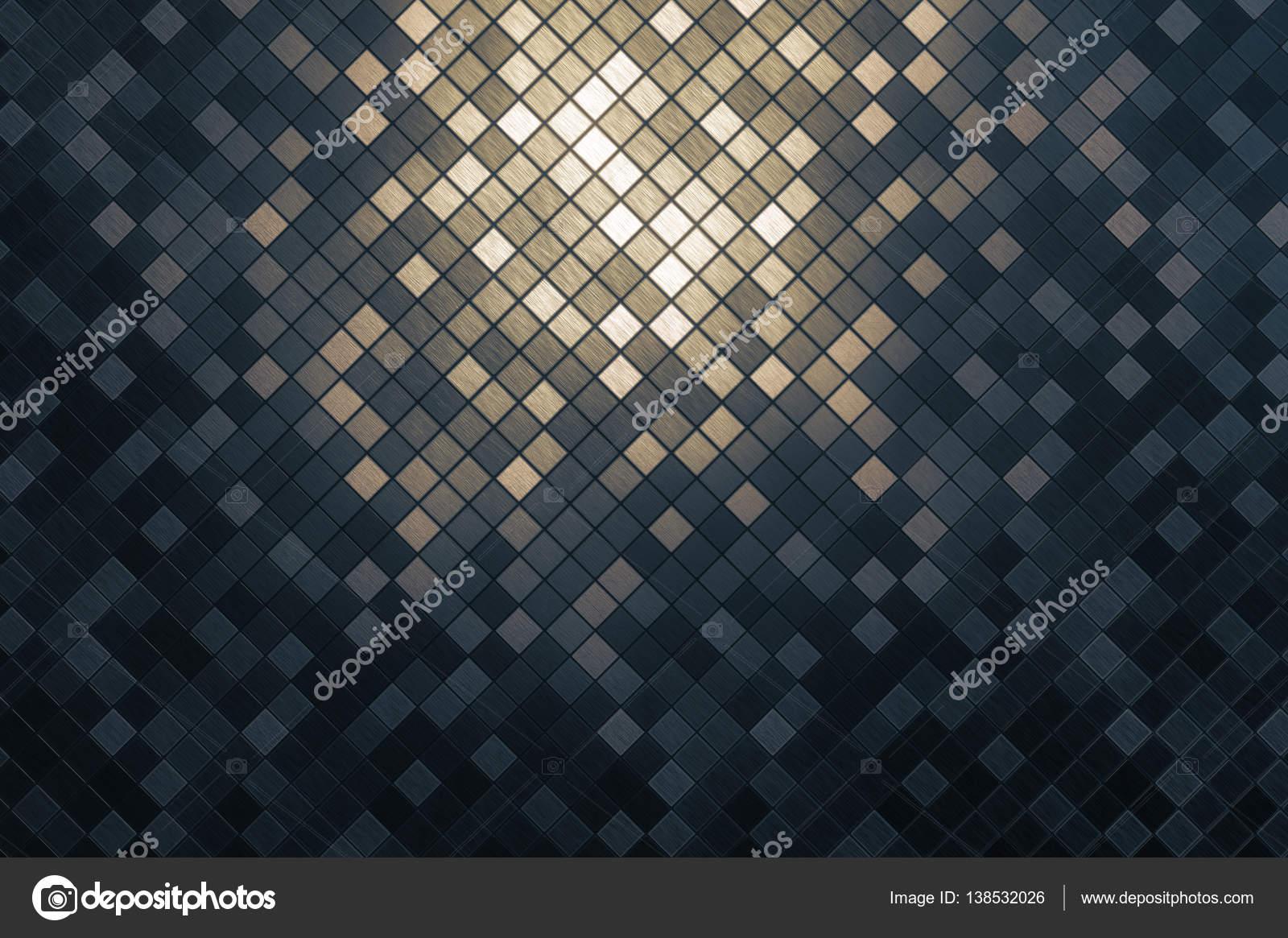 Metall Mosaik quadratisches Muster Hintergrund — Stockfoto ...