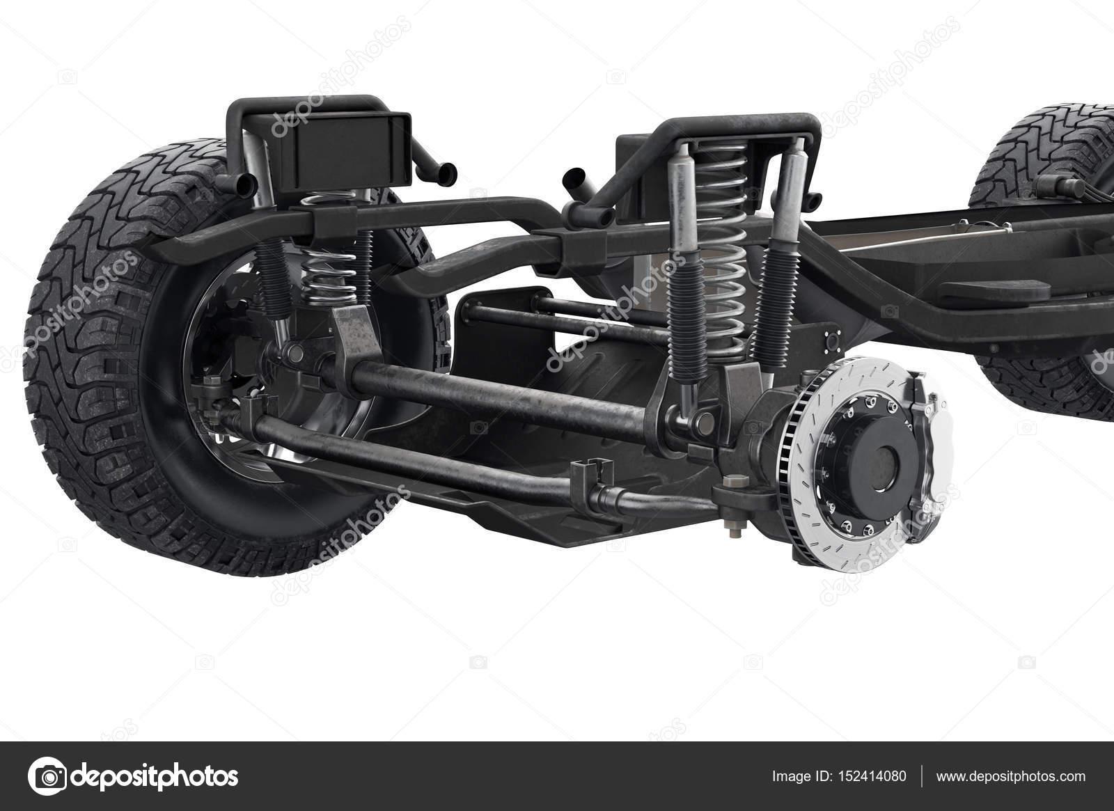 Chasis bastidor suspensión, visión cercana — Fotos de Stock ...