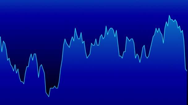 modrá čára graf na modrém pozadí grafu akciového trhu investičního obchodování.