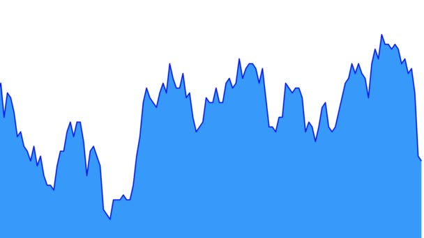 blue line graph on white background chart of stock market investment trading.