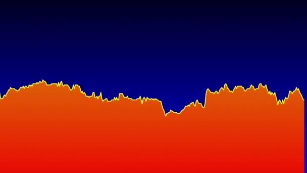 oranžové spojnicový graf na modrém pozadí grafu akciového trhu investičního obchodování.