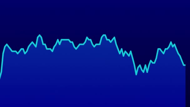 blue line graph on blue background chart of stock market investment trading.