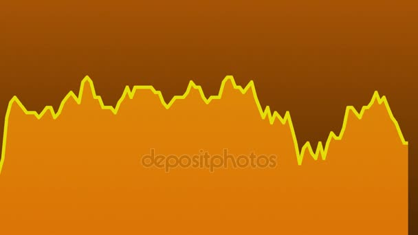 oranžové spojnicový graf na oranžové pozadí grafu akciového trhu investičního obchodování.