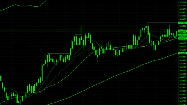 Stock market chart. Stock market data on LED display concept.