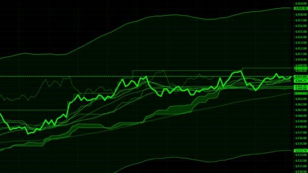 Burzovní graf. Akciovém trhu údaje o Led displej koncept.