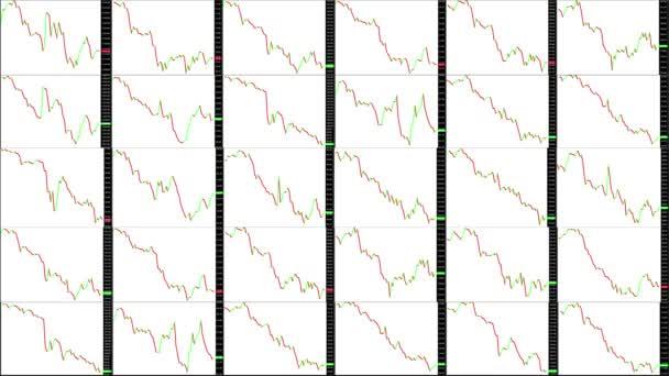 Zeitraffer-Bildschirm. Schnelle Zeit. Markttechnische Analyse. Handelsspanne