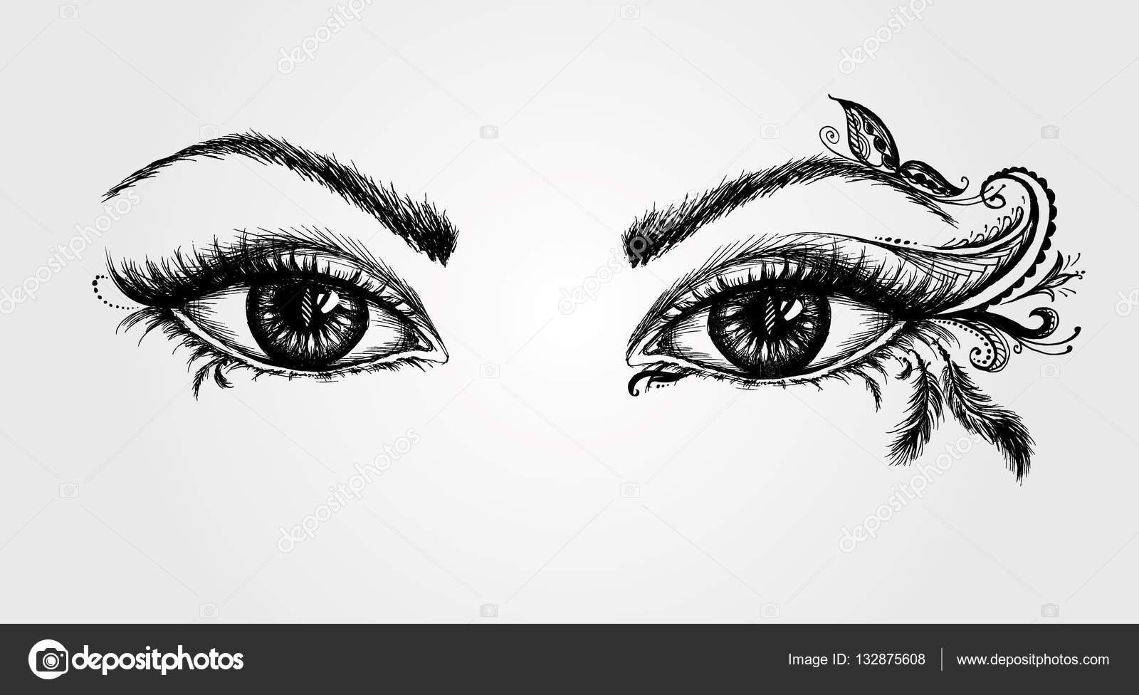 Dibujos De Ojos Infantiles Para Colorear: Vector De Stock © Naum100