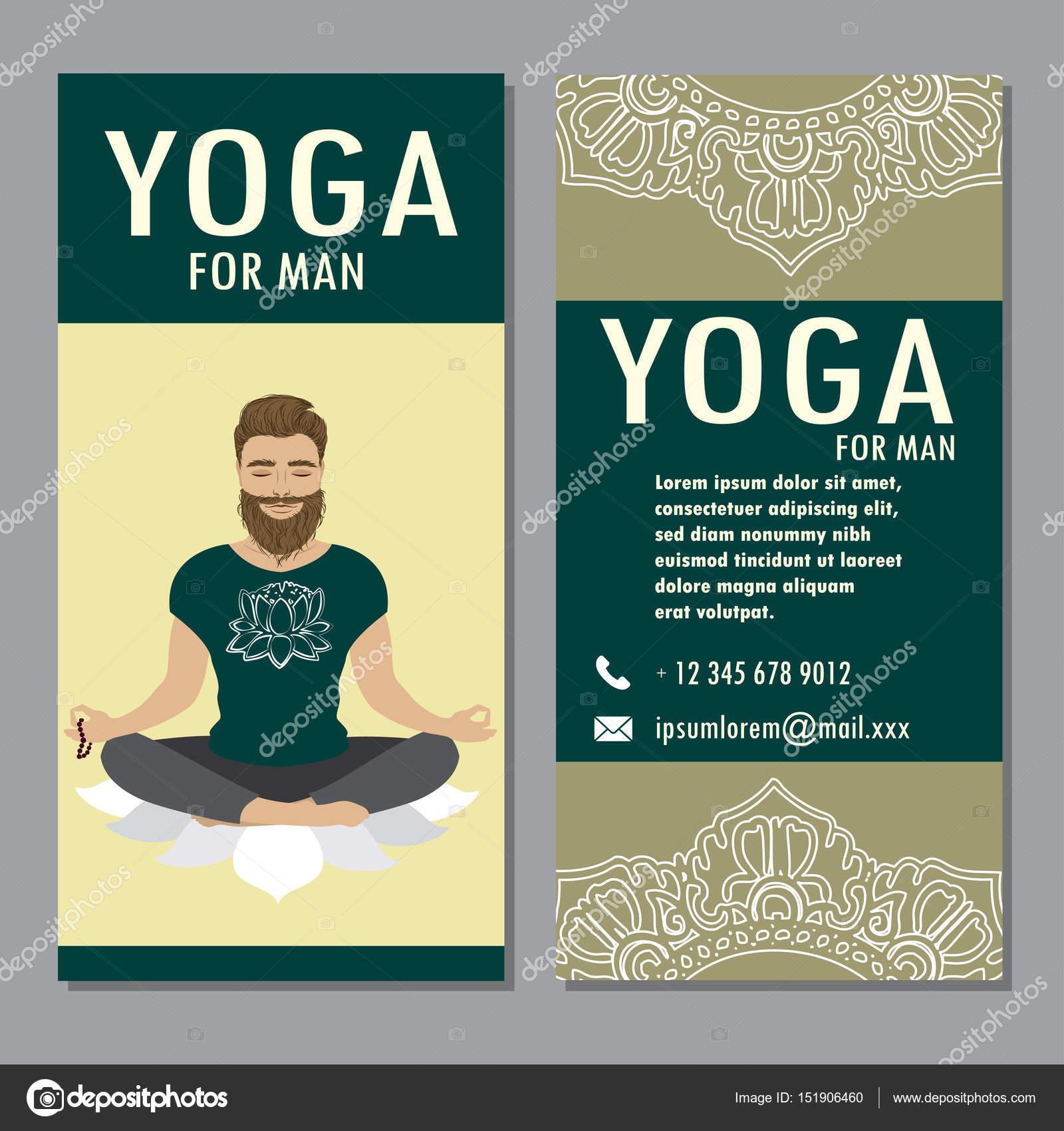 Vorlage des Yoga Poster, Flyer, banner — Stockvektor © naum100 ...