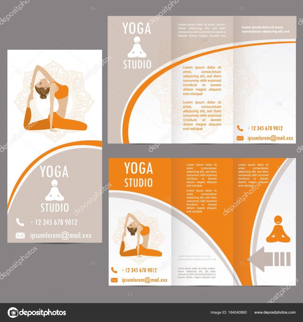 Karten für Frau Yoga Studio, Banner oder Broschüre Vorlage ...